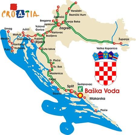 Route Baska Voda